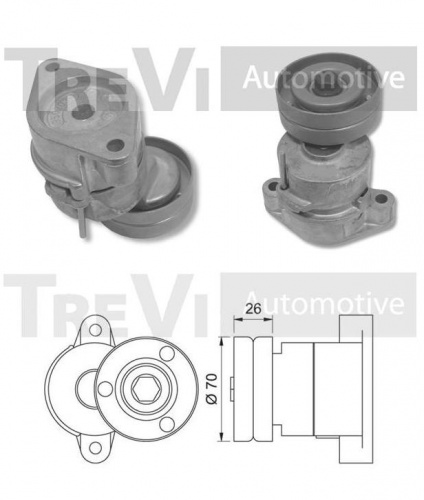 Auxiliary bearing Opel Astra - Corsa - Vectra