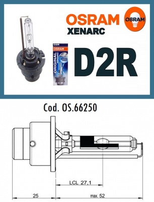 Xenon lamp D2R discharge