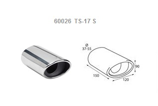 Exhaust blowpipe polished stainless steel